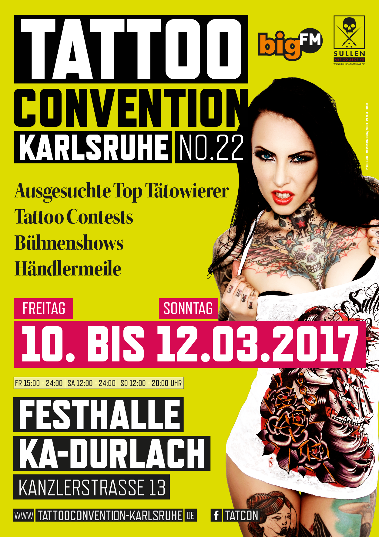 Tattooconvention Karlsruhe 2017 Flyer