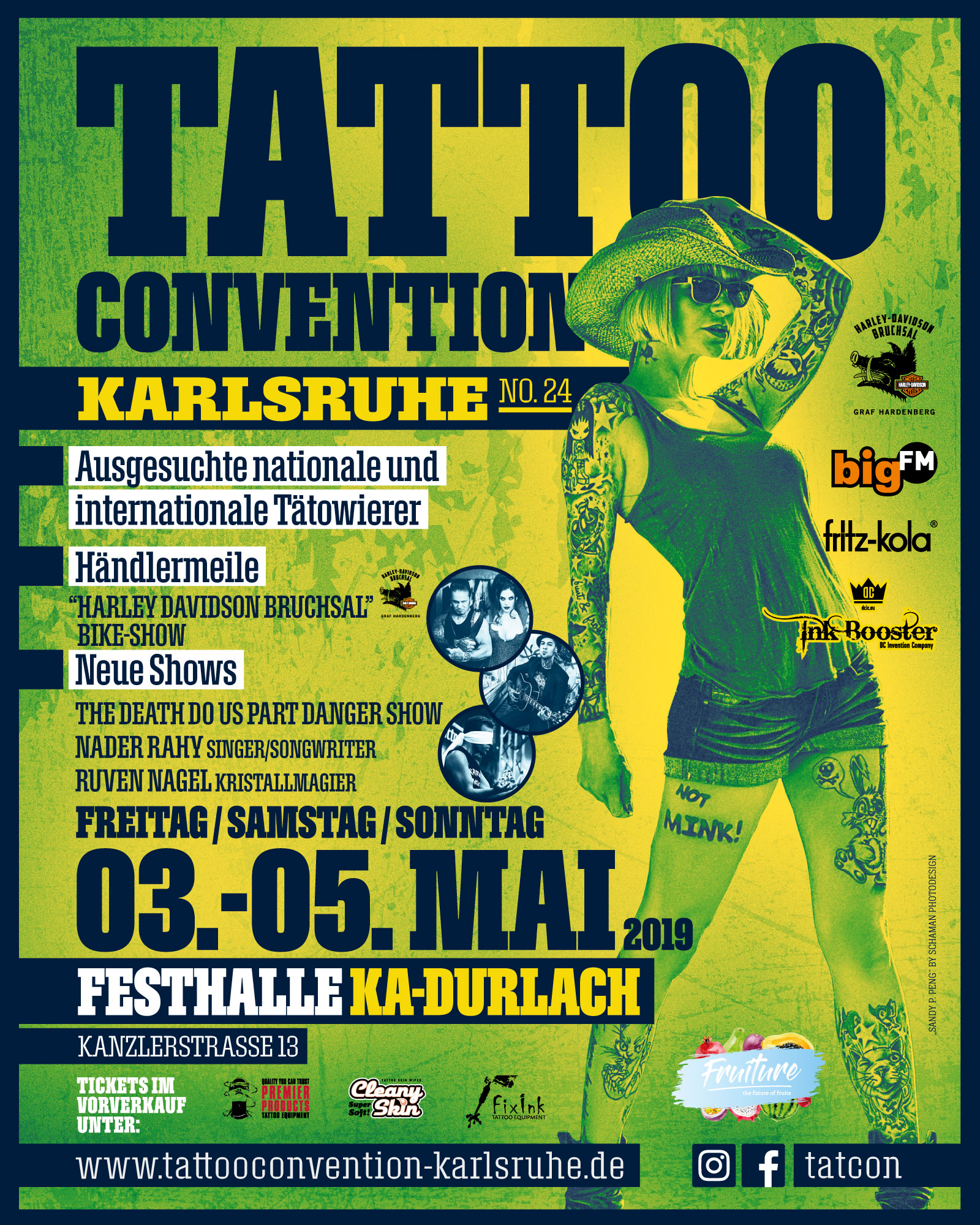 Tattooconvention Karlsruhe 2019 Flyer